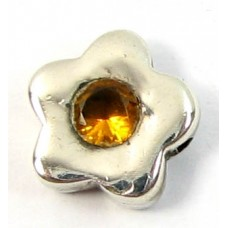 1 Sterling Silver and Topaz Little Flower Bead
