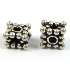 1 Sterling Silver Square Spacer Bead