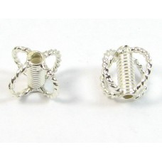 1 Sterling Silver Tube and Corners Bead (Small)