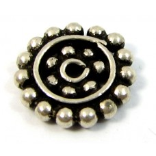 1 Sterling Silver Bali Spacer Bead