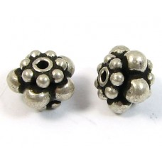 1 Sterling Silver Granulated Bali Spacer Bead