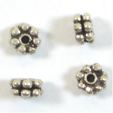1 Sterling Silver Double Daisy Bali Spacer Bead