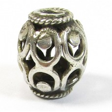 1 Sterling Silver Large Filigree Bead