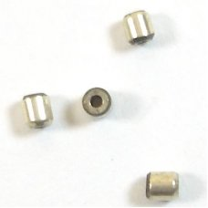 1 Sterling Silver Barrel Spacer 2.5x2mm