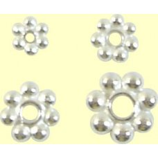 1 Bright Sterling Silver 6mm Daisy Spacer Bead