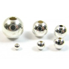 10 2mm Sterling Silver Round Plain Beads