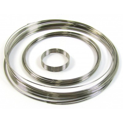 Bright Silver Colour Finger Ring Memory Wire - Small Pack