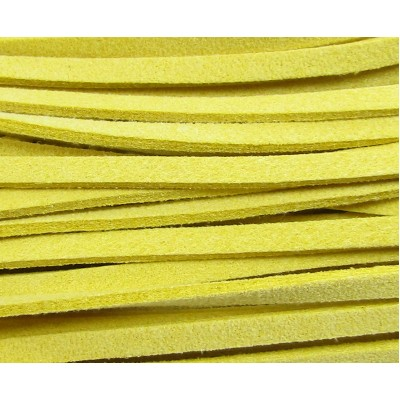 Sunshine Yellow Simulated Suede Cord - 1 Metre Cut Length