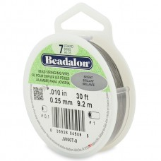 7 Strand Beadalon Wire 0.010 Bright 30 ft