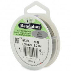 7 Strand Beadalon Wire 0.012 Bright 30 ft
