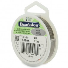 7 Strand Beadalon Wire 0.015 Bright 30 ft