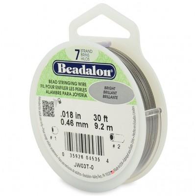 7 Strand Beadalon Wire 0.018 Bright 30