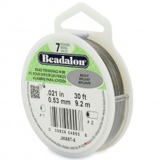 7 Strand Beadalon Wire 0.021 Bright 30 ft