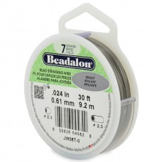 7 Strand Beadalon Wire 0.024 Bright 30 ft
