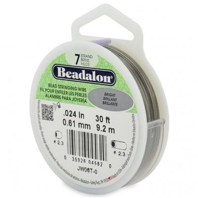 7 Strand Beadalon Wire 0.024 Bright 30
