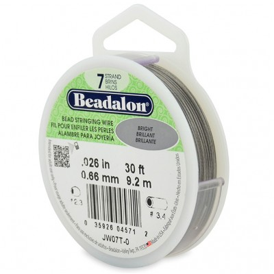 7 Strand Beadalon Wire 0.026 Bright 30