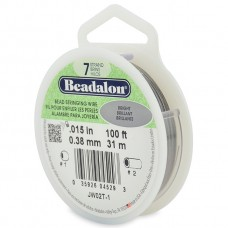 7 Strand Beadalon Wire 0.015 Bright 100 ft