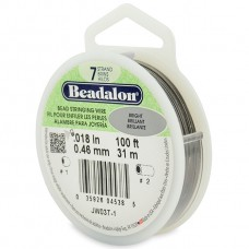 7 Strand Beadalon Wire 0.018 Bright 100 ft