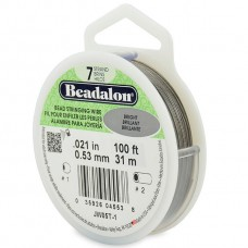 7 Strand Beadalon Wire 0.021 Bright 100 ft