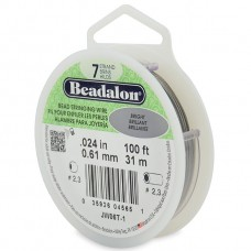 7 Strand Beadalon Wire 0.024 Bright 100 ft