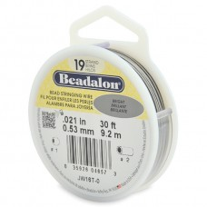 19 Strand Beadalon Wire 0.021 Bright 30 ft