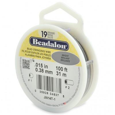 19 Strand Beadalon Wire 0.015 Bright 100