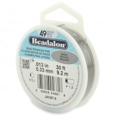 49 Strand Beadalon Wire 0.013 Bright 30 ft
