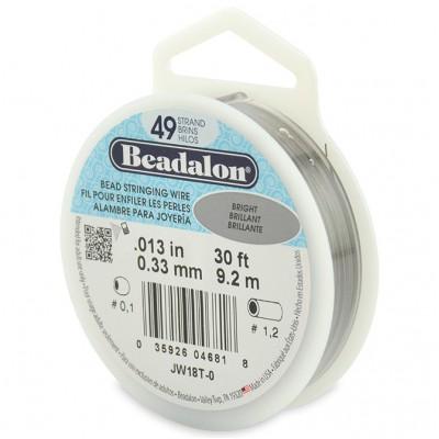 49 Strand Beadalon Wire 0.013 Bright 30 ft