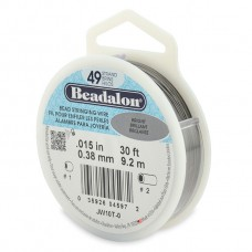 49 Strand Beadalon Wire 0.015 Bright 30 ft