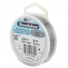 49 Strand Beadalon Wire 0.024 Bright 30 ft