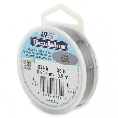 49 Strand Beadalon Wire 0.024 Bright 30 ft