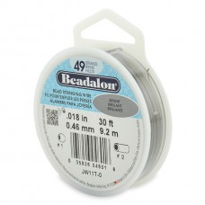 "49 Strand Beadalon Wire 0.018"" Bright 30ft"