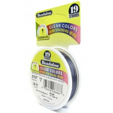 19 Strand Beadalon Wire 0.015 Blue 30 ft