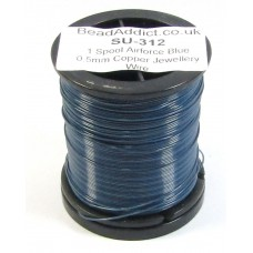 1 Spool Airforce Blue 0.5mm Copper Jewellery Wire