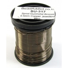 1 Spool Gunmetal Bronze 0.5mm Copper Jewellery Wire