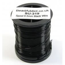1 Spool 0.5mm Black Jewellery Wire