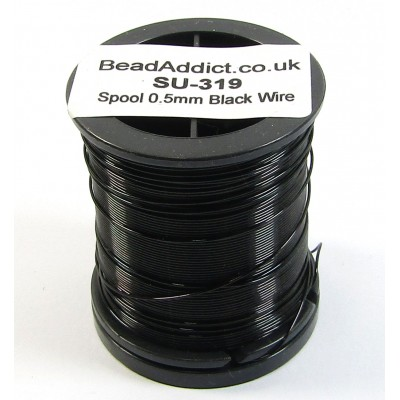 1 Spool 0.5mm Black Jewellery Wire