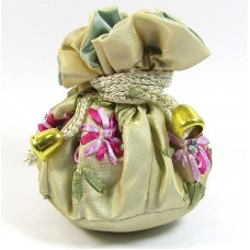1 Harvest Jewellery Pouch Drawstring Bag with Silk Embroidery