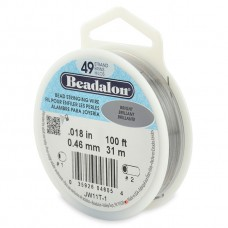 49 Strand Beadalon Wire 0.018 Bright 100 ft