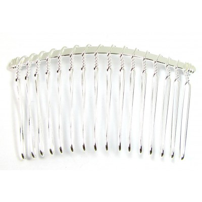 1 Silver Plated Hair Comb