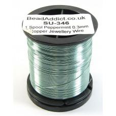 1 Spool Peppermint 0.3mm Copper Jewellery Wire
