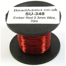 1 Spool Ember Red 0.3mm Copper Jewellery Wire