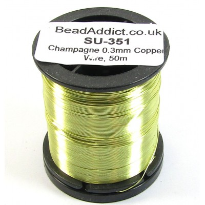 1 Spool Champagne 0.3mm Copper Jewellery Wire