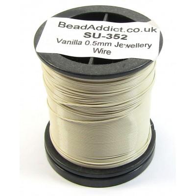 1 Spool Vanilla 0.5mm Copper Jewellery Wire