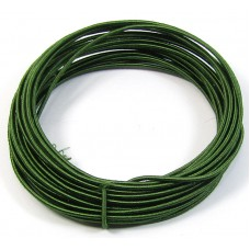 Coil Forest Green Silk Covered Aluminium Wire 0.9mm