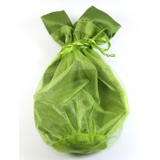 Large Organza Drawstring Olive Pouch