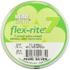 """7 Strand Flex-Rite Wire 0.014"""" Pearl Silver 30'"""