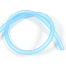 1cm Hollow Rubber 5mm Tubing Electric Blue