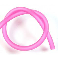 1cm Hollow Rubber 5mm Tubing Hot Pink