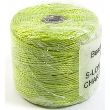 1 Reel Superlon Bead Cord Chartreuse